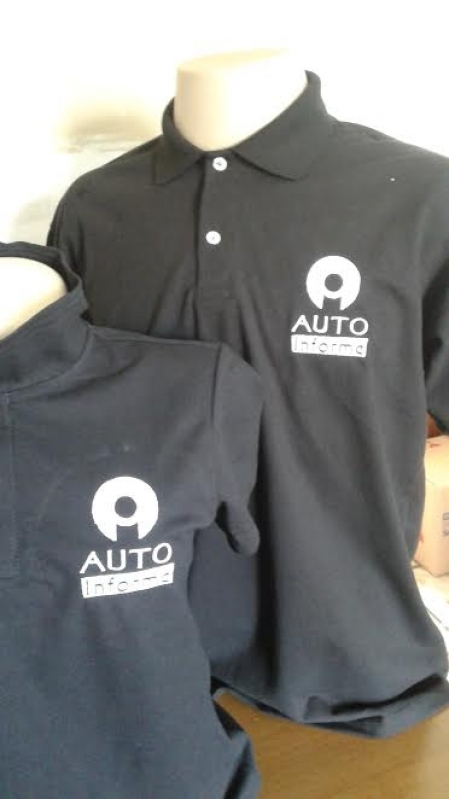 Camisa Personalizada com Logotipo Sapopemba - Camisa Personalizada com Bordado do Logotipo