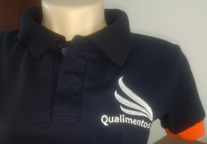 Camiseta Personalizada Feminina Preço Vila Sônia - Camisetas Bordadas Logo Empresa