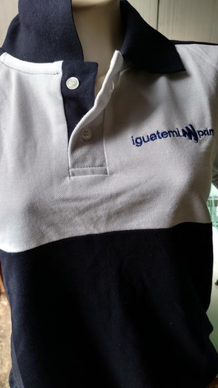 Camisetas Bordadas Logo Empresa Preço Belém - Camiseta Personalizada Logo