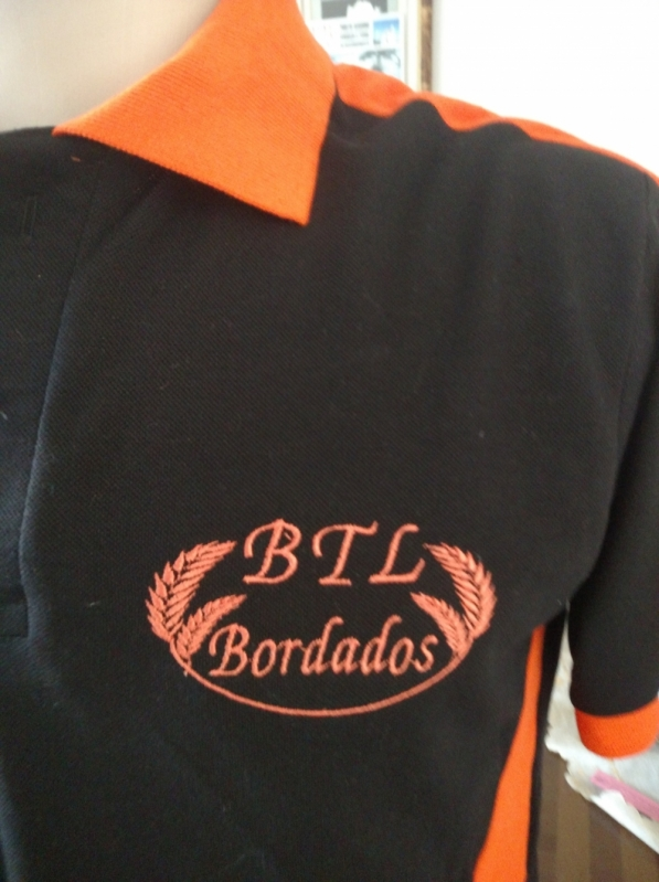 Camisetas Bordadas Logo Empresa Tremembé - Camiseta Bordada Logotipo