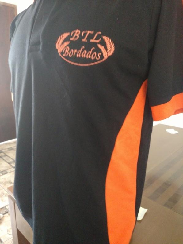 Camisetas Personalizadas Femininas Jockey Clube - Camiseta Branca Bordada