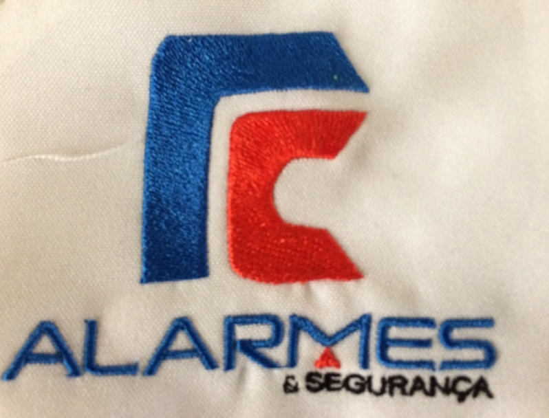 Logomarca Bordada Aricanduva - Logotipo Farmácia Bordado