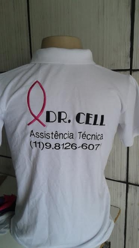 Logotipo Bordado na Camisa Preço Pedreira - Bordar Logotipo Camiseta