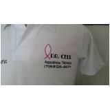 camisa personalizada com logotipo preço Água Branca