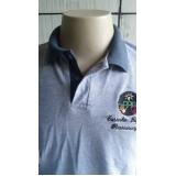 camisa polo bordada personalizada preço Água Rasa