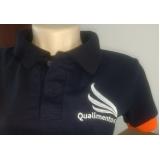 camisa polo bordada uniforme preço Água Branca