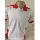 camisa polo bordada uniforme Aricanduva