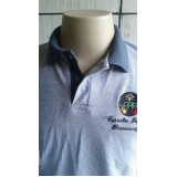 camisa polo com logo bordado Vila Prudente