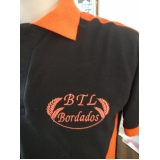 camisetas bordadas logo empresa Tremembé