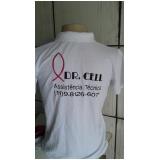 logotipo bordado na camisa preço Engenheiro Goulart
